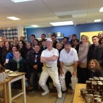 Trainees and the cheese makers in Flen.